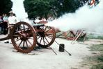 Cannon Firing, Revolutionary War, American Revolution, Battlefield, Continental Army, History, Historical, Concord, New Hampshire, War of Independence, artillery, gun, firepower, smoke, MYAV03P06_02