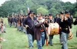 Drum and Fife corps, marching band, soldiers, infantry, Civil War, color guard, men, MYAV03P07_09