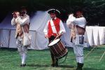 Drum and Fife Corps, Tents, Encampment, Revolutionary War, combat, battlefield, troops, uniforms, americana, soldiers, colonial, American Revolution, History, Historical, British Army, War of Independence, MYAV03P13_05