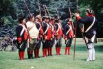 Revolutionary War, combat, battlefield, troops, uniforms, americana, soldiers, colonial, rifles, American Revolution, History, Historical, British Army, War of Independence, infantry, soldiers, rifle, gun, MYAV03P13_06