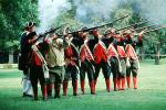 Revolutionary War, combat, battlefield, troops, uniforms, americana, soldiers, colonial, firearm, shooting, smoke, American Revolution, History, Historical, British Army, War of Independence, Infantry, soldiers, musket, gun, firepower, MYAV03P13_11