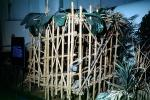 Prisoner Cage to Hold American Pilots shot down over North Vietnam, bamboo prison, POW, Vietnam War