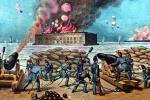 Attack on Fort Sumter, Cannons, Weapons, Sandbags, Smoke Rings, 1861