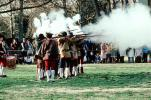 Patriot, Soldiers Firing Rifle, Revolutionary War, American Revolution, Battlefield, Continental Army, History, Historical, War of Independence, infantry, soldiers, musket, gun, firepower, MYAV06P05_11