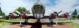Glazed Nose, Gun Turret, Boeing B-17G FlyingFortress, Castle Air Force Base, Merced, California, Panorama