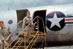 Air Force Man enters a C-54, Rondela, 1950s
