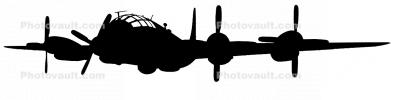 Boeing WB-50D Superfortress silhouette, shape, MYFV06P12_07BM