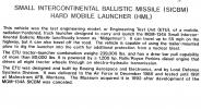 Small Intercontinental Ballistic Missile, SICBM, Hard Mobile Launcher, HML, Nuclear hardened Missile Launcher, Wright-Patterson Air Force Base, Fairborn, Ohio, MYFV07P10_18