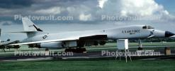 Rockwell B-1 Bomber, Lancer, Wright-Patterson Air Force Base, Fairborn, Ohio, Panorama, MYFV07P13_11B