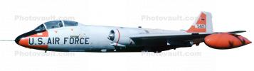 USAF Martin EB-57E Canberra photo-object, United States Air Force, cut-out, MYFV10P03_10BF