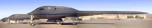 88-0331, Spirit of South Carolina, B-2 Stealth Bomber, Nellis Air Force Base, Panorama