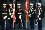 smiling Marine Detachment for Security on Board the USS Ranger, Color Guard, MYMV01P06_04