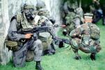 camouflage, gas mask, chemical warfare, biological, Operation Kernel Blitz, M16 Rifle, Monterey, urban warfare training, MYMV01P14_17