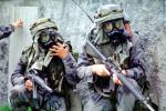 camouflage, gas mask, chemical warfare, biological, Operation Kernel Blitz, M16 Rifle, Monterey, urban warfare training, MYMV01P14_19