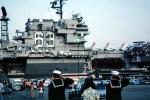 Sailors Saluting, USS Kitty Hawk (CV-63), USN, United States Navy