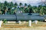 Japanese Type-C Class Midget Submarine Ha-51, Navy Base, Guam, WW2, World War Two, minisub, 1940s, MYNV07P15_18B