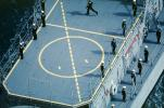 Sailors standing in Attention, Helipad, USN, United States Navy, ship, vessel, hull, warship, MYNV09P01_19