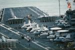 Jet Fighters preparing for launch, USS Constellation, CV-64, MYNV09P06_03