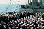 Sailors, Officers, hats, caps, USS Bryce Canyon (FAY-36), USN, United States Navy, 1940s, MYNV09P13_16