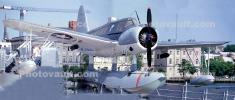 Vought OS2U-3 Kingfisher floatplane, USS North Carolina (BB-55) Battleship, Panorama, Cape Fear River, Riverfront, Wilmington, North Carolina, MYNV15P07_06B