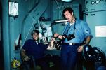 sailors onboard ship, cameras, funny, October 1976