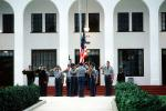 Color Guard, salute, Military School building, teens, boys