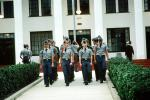 Military School building, teens, boys, cadets, uniform