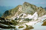 Mountain Peak, Snow, Rochers de Naye, 1950's, NESV01P01_13.0925