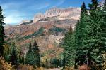 Mountains, Trees, Glacier National Park, NNMV01P05_16