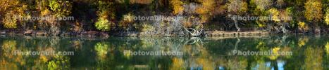 fall colors, autumn, Sacramento River, water, trees, reflection, NPND05_064
