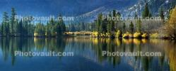 Grant Lake, Reflections, Mountains, Trees, Autumn, June Lake Loop, Tranquility, NPND06_208
