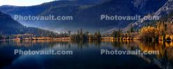 Grant Lake, Reflections, Mountains, Trees, Autumn, June Lake Loop, NPND06_212