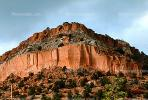 Rock Cliff, mountain, sheer cliff, Bandelier National Monument