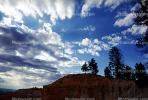 Clouds, trees, Bryce Canyon National Park