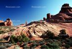 Knob, Tower, Sandstone Cliff, stratum, strata, layered, sedimentary rock, outcrop, stratified layers, geology, geological formations, HooDoo, Spire, Sandstone, NSUV01P14_12