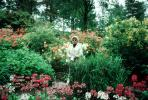 Woman in a Garden, female, lady, hat, coat, OFFV19P13_16