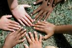 Arms and Hands in a Circle, mixed race, multi-ethnic, diversity, girl, lady, feminine, female, male, boy, guy