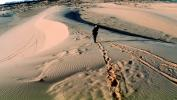 Human Footprints, Woman Walking on Coral Pink Sand Dunes