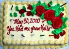 Birthday Cake, Frosting, Roses, Candles, PARD02_074
