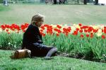 tulips, Woman Being in Thought, PBAV02P01_17