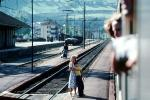 Innsbruck, Trainstop, Mother, Son, Train Station, tracks, PBTV01P14_01