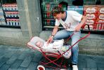 Father, dad, pram, pushcart, baby, PBTV02P08_05