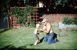 boxing, Father, Son, Backyard, 1960s, PCFV03P01_11