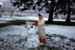 Little Girl and her Snowman, Winter, PCSV01P04_17