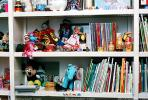 Shelves, Dolls, Books, Mickey Mouse