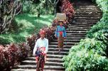 Man, Woman, steps, s-curve, Bali, Indonesia