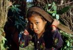 Girl Carrying Firewood, Desertification, wood bundle, twigs, Child-Labor, deforestation, PDCV01P06_05.1565