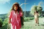 Girl carrying vegetation, woman, deforestation, desertification, PDCV01P07_05