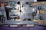 tool cabinet, saw, drill, screwdriver, planer, retro, PDGV01P03_19