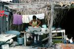 Girl, Washing Clothes, Washingline, Punta Mita, PDLV01P02_01